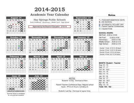 14-15 School Calendar