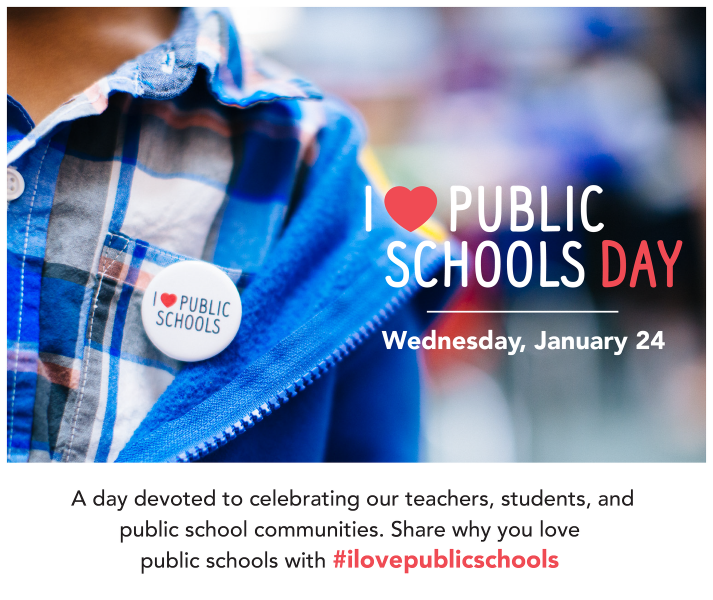 On January 24th, join Nebraska Loves Public Schools online for the third  annual I Love Public Schools Day, a day devoted to celebrating our  teachers, ...